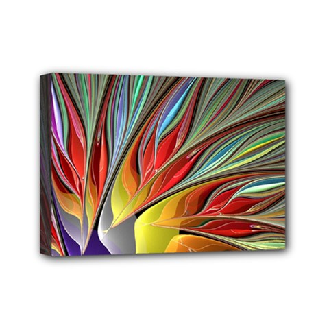 Fractal Bird Of Paradise Mini Canvas 7  X 5  (stretched) by WolfepawFractals