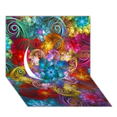 Spirals And Curlicues Circle 3d Greeting Card (7x5)  by WolfepawFractals