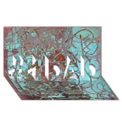 Urban Graffiti Grunge Look #1 Dad 3d Greeting Card (8x4)