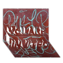 Urban Graffiti Rust Grunge Texture Background You Are Invited 3d Greeting Card (7x5)  by CrypticFragmentsDesign