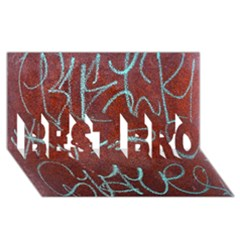 Urban Graffiti Rust Grunge Texture Background Best Bro 3d Greeting Card (8x4)  by CrypticFragmentsDesign