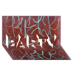 Urban Graffiti Rust Grunge Texture Background Party 3d Greeting Card (8x4)  by CrypticFragmentsDesign