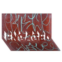 Urban Graffiti Rust Grunge Texture Background Engaged 3d Greeting Card (8x4)  by CrypticFragmentsDesign
