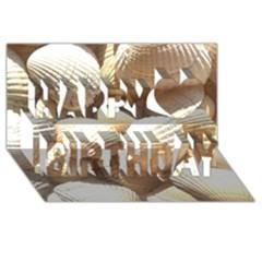 Tropical Exotic Sea Shells Happy Birthday 3d Greeting Card (8x4)