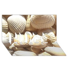 Tropical Exotic Sea Shells Hugs 3d Greeting Card (8x4)
