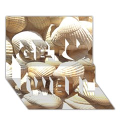Tropical Exotic Sea Shells Get Well 3d Greeting Card (7x5)