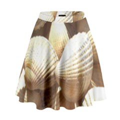 Tropical Exotic Sea Shells High Waist Skirt by yoursparklingshop