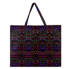 PURPLE 88 Zipper Large Tote Bag by MRTACPANS