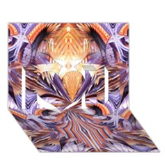 Fire Goddess Abstract Modern Digital Art  I Love You 3d Greeting Card (7x5)  by CrypticFragmentsDesign