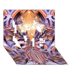 Fire Goddess Abstract Modern Digital Art  Love 3d Greeting Card (7x5)