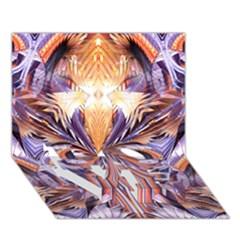 Fire Goddess Abstract Modern Digital Art  Love Bottom 3d Greeting Card (7x5)  by CrypticFragmentsDesign