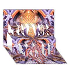 Fire Goddess Abstract Modern Digital Art  Thank You 3d Greeting Card (7x5)  by CrypticFragmentsDesign