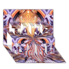 Fire Goddess Abstract Modern Digital Art  Take Care 3d Greeting Card (7x5)  by CrypticFragmentsDesign