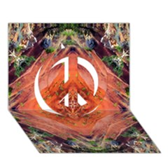 Boho Bohemian Hippie Floral Abstract Faded  Peace Sign 3d Greeting Card (7x5)  by CrypticFragmentsDesign