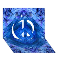 Boho Bohemian Hippie Tie Dye Cobalt Peace Sign 3d Greeting Card (7x5)  by CrypticFragmentsDesign