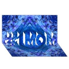 Boho Bohemian Hippie Tie Dye Cobalt #1 Mom 3d Greeting Cards (8x4)  by CrypticFragmentsDesign