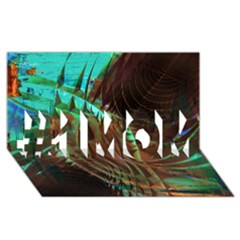 Metallic Abstract Copper Patina  #1 Mom 3d Greeting Cards (8x4)