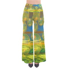 Golden Days, Abstract Yellow Azure Tranquility Pants by DianeClancy