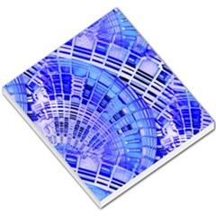 Semi Circles Abstract Geometric Modern Art Blue  Small Memo Pads by CrypticFragmentsDesign