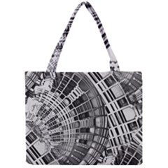 Semi Circles Abstract Geometric Modern Art Mini Tote Bag by CrypticFragmentsDesign