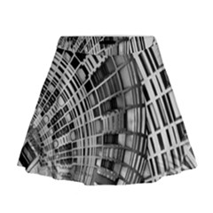 Semi Circles Abstract Geometric Modern Art Mini Flare Skirt