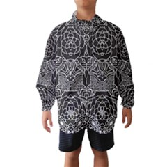 Mariager - Bold Flower Design - Black And White Wind Breaker (Kids) by Zandiepants