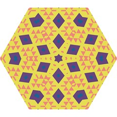 Tribal Shapes And Rhombus Pattern                        Umbrella by LalyLauraFLM