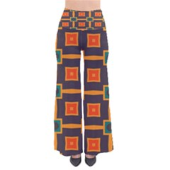 Connected Shapes In Retro Colors        Women s Chic Palazzo Pants by LalyLauraFLM
