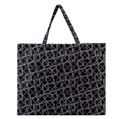 Geometric Grunge Pattern Zipper Large Tote Bag by dflcprints
