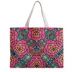 Petals, Carnival, Bold Flower Design Zipper Mini Tote Bag by Zandiepants