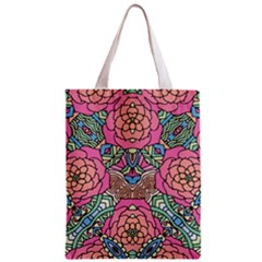 Petals, Carnival, Bold Flower Design Zipper Classic Tote Bag by Zandiepants