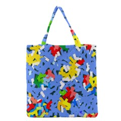 Rectangles Mix                          Grocery Tote Bag by LalyLauraFLM