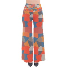 Retro Colors Distorted Shapes          Women s Chic Palazzo Pants by LalyLauraFLM