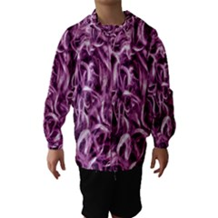 Textured Abstract Print Hooded Wind Breaker (Kids) by dflcprintsclothing