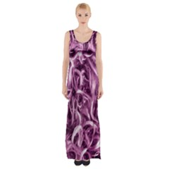 Textured Abstract Print Maxi Thigh Split Dress by dflcprintsclothing