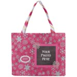 Pink Snowflake Tote - Mini Tote Bag
