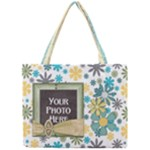 Blue Flower Tote - Mini Tote Bag