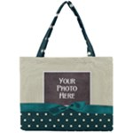 Teal Ribbon Tote - Mini Tote Bag