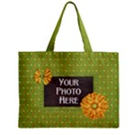 Green Polka Dot Tote - Mini Tote Bag