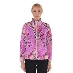Semi circles abstract modern art pink Winterwear by CrypticFragmentsDesign