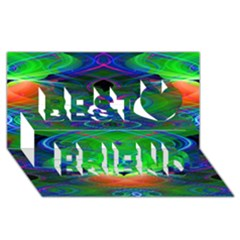 Neon Night Dance Party Best Friends 3d Greeting Card (8x4)  by CrypticFragmentsDesign