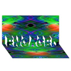 Neon Night Dance Party Engaged 3d Greeting Card (8x4)