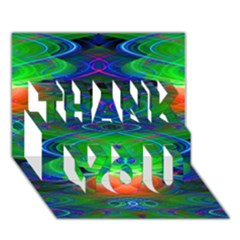 Neon Night Dance Party Thank You 3d Greeting Card (7x5)