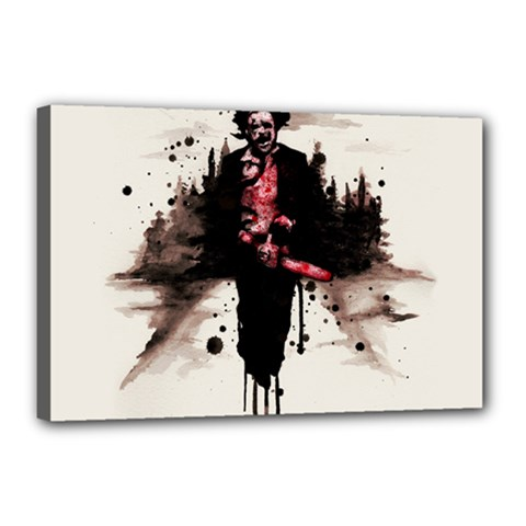 Leatherface 1974 Canvas 18  x 12  by lvbart