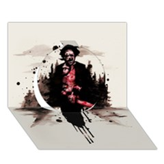 Leatherface 1974 Circle 3d Greeting Card (7x5)
