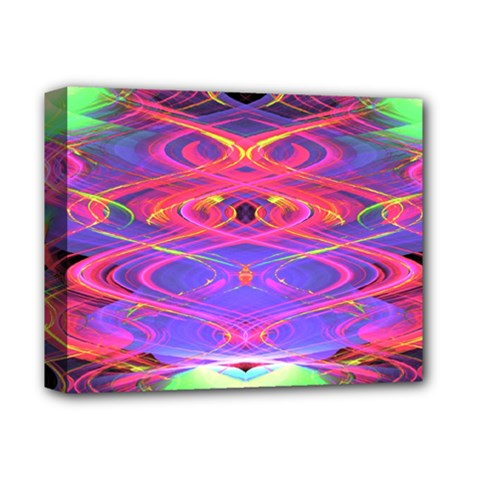 Neon Night Dance Party Pink Purple Deluxe Canvas 14  X 11  by CrypticFragmentsDesign
