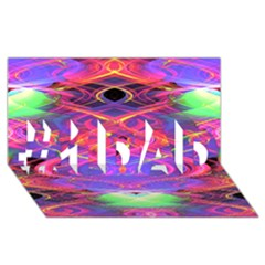 Neon Night Dance Party Pink Purple #1 Dad 3d Greeting Card (8x4)  by CrypticFragmentsDesign