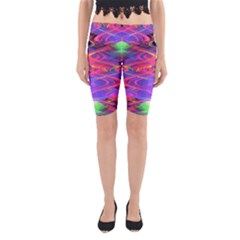Neon Night Dance Party Pink Purple Yoga Cropped Leggings
