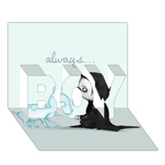 Always    Boy 3d Greeting Card (7x5)