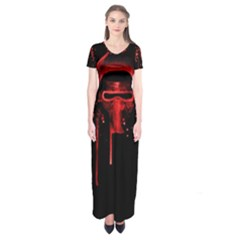 Bad Grandson Short Sleeve Maxi Dress by lvbart